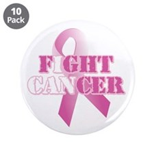 "I can fight cancer pink rs 3.5"" Button (10 pack)"