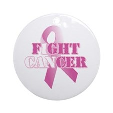 I can fight cancer pink rs Ornament (Round)