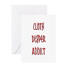Cloth Diaper Addict Greeting Card