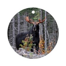 Marty Moose Ornament (Round)