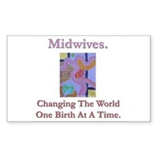Midwives Change the World Rectangle Decal