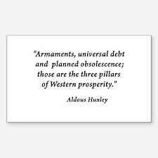 Universal Debt Rectangle Decal