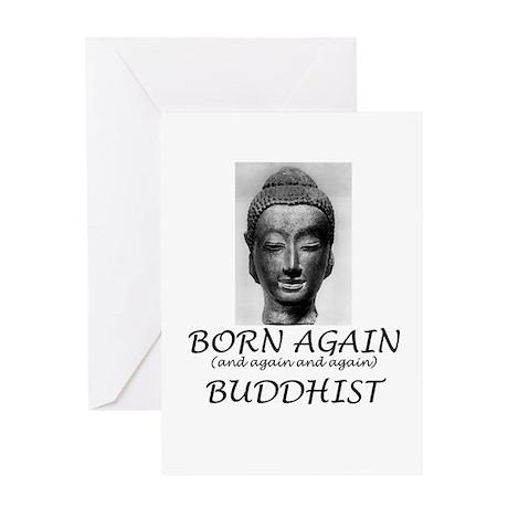 Born Again Buddhist Greeting Card