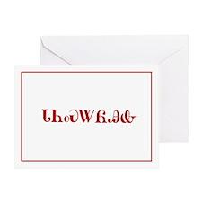 Cherokee Christmas Greeting Card