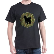 Poodle Xmas Wreath T-Shirt