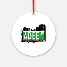 Adee Av, Bronx, NYC Ornament (Round)