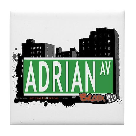 Adrian Av, Bronx, NYC Tile Coaster