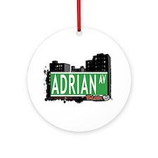 Adrian Av, Bronx, NYC Ornament (Round)