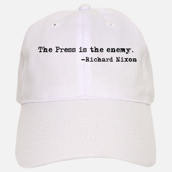 The Press is the Enemy Baseball Baseball Cap