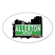 Allerton Av, Bronx, NYC Oval Decal