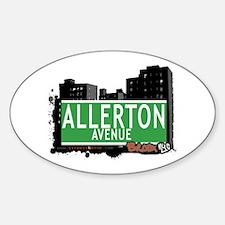 Allerton Av, Bronx, NYC Oval Decal