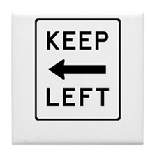 Keep Left Tile Coaster