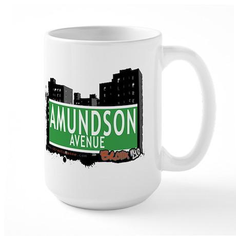 Amundson Av, Bronx, NYC Large Mug