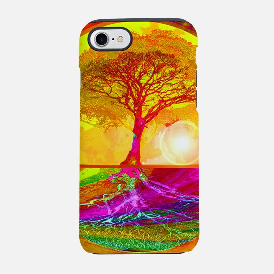 Gold Sunlight Tree of Life iPhone 7 Tough Case