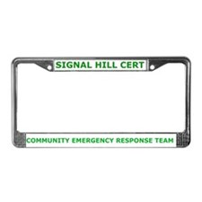 Signal Hill CERT License Plate Frame