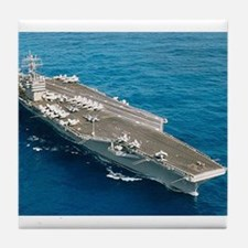 USS Abraham Lincoln Ship's Image Tile Coaster