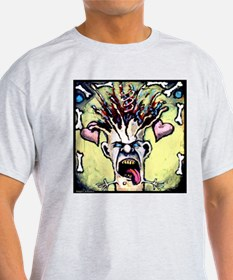 Angry Johnny-Explodin Melon Ash Grey T-Shirt