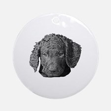 Sweet Curly Puppy - Ornament (Round)