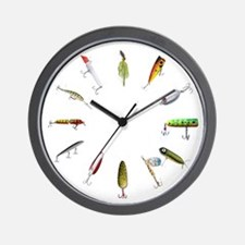 Fishing Lure Wall Clock