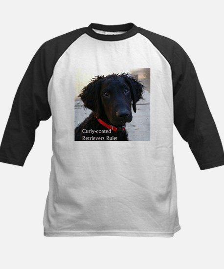 Curly Puppy - Kids Baseball Jersey