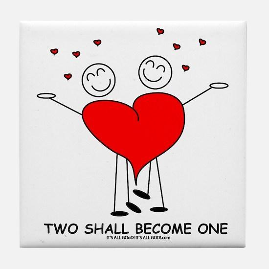 One Heart Tile Coaster