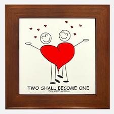 One Heart Framed Tile