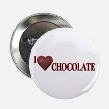 "I Love Chocolate 2.25"" Button"