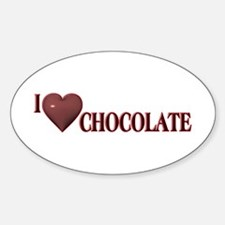 I Love Chocolate Oval Decal