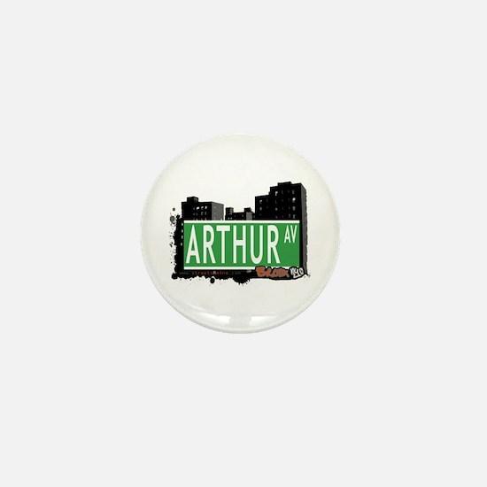 Arthur Av, Bronx NYC Mini Button