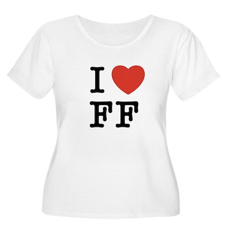 I Heart FF Women's Plus Size Scoop Neck T-Shirt