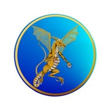 """Jeweled Gold Dragon 3.5"""" Button (100 pack)"""