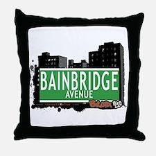 Bainbridge Av, Bronx, NYC Throw Pillow