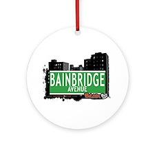 Bainbridge Av, Bronx, NYC Ornament (Round)