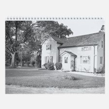 Horses and Barns in Black and Wall Calendar