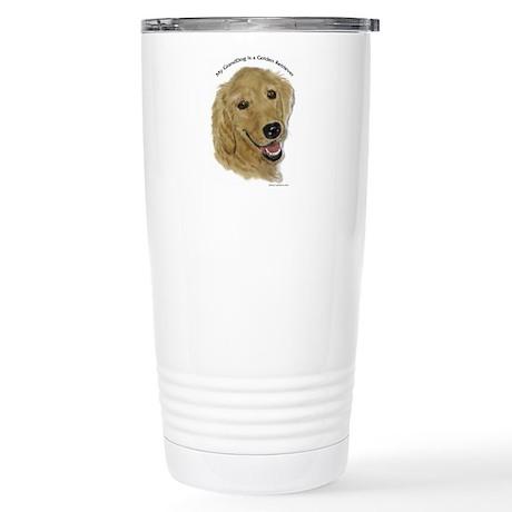 Golden Granddog Stainless Steel Travel Mug