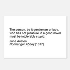 Funny Jane austen quotes Postcards (Package of 8)