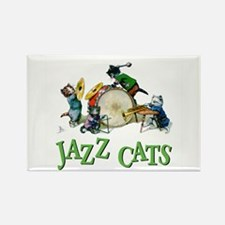 Jazz Cats Rectangle Magnet