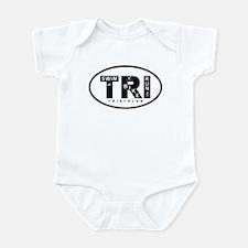 Thiathlon Swim Bike Run Infant Bodysuit