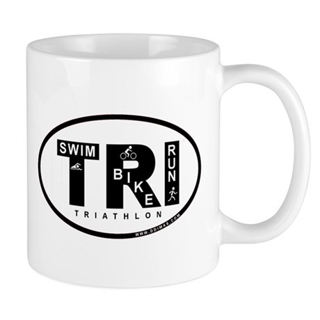 Thiathlon Swim Bike Run Mug