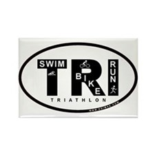 Thiathlon Swim Bike Run Rectangle Magnet (100 pack