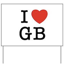 I Heart GB Yard Sign