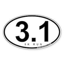 3.1 Run Oval Bumper Stickers