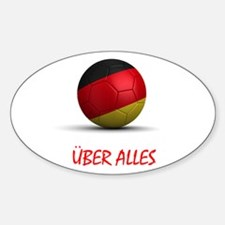 Uber Alles Oval Decal