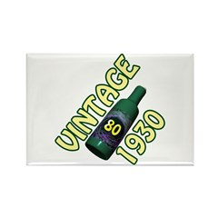 80th Birthday Rectangle Magnet (10 pack)