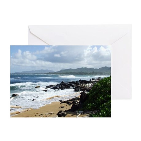 Beach at Kapaa Kauai Hawaii Greeting Card