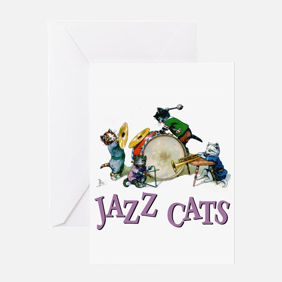 Jazz Cats Greeting Card