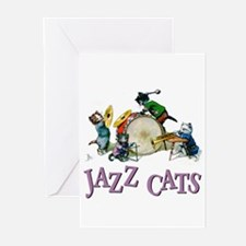 Jazz Cats Greeting Cards (Pk of 20)