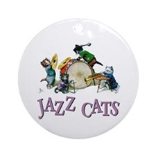 Jazz Cats Ornament (Round)
