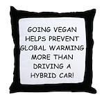 Going Vegan Throw Pillow