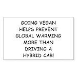 Going Vegan Sticker (Rectangle)